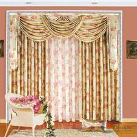 China jacquard curtain fabric animal bead curtain