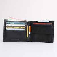 Italian custom leather wallet men with coin pocket