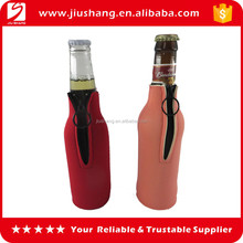Hot sale custom neoprene beer bottle covers holder with zipper