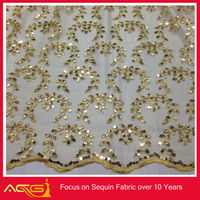 Party Dress Fabric Indian Silk, Brocade Fabric By Yard polyester flower embroidery chiffon fabric