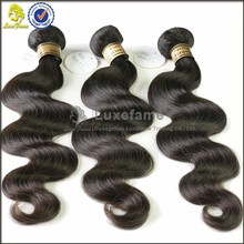 virgin hair body wave high quality full cuticle and one direction shedding free
