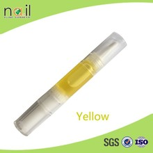 Yellow nail care cuticle oil pen treatment nail nutrition softener pen and cuticle revitalizer oil pen