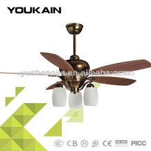 52 pulgadas ventilador de la lámpara
