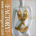 Dourado brilhante Metallic Cor vinil Teddy fotos sensuais de lingerie sexy Lingerie W2084313