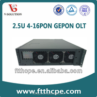 FTTH 2.5U 4-16 PON port GEPON OLT,1490 1310 fiber optic transmitter receiver