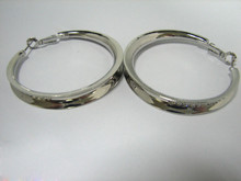 Diameter from 0.6 inch to 2.76 inch Wholesale Layered Cheap Hoop Earrings silver Color Polished accessory