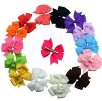 Soft flower hair bowknot mix colors hairpin plastic fashion metal children's hairpin headband