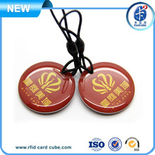 13.56MHZ smart leather/ABS key fob NFC tag/ label for cellphone NFC
