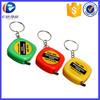 Promotional Measuring Tape Key Chain, Creative Gift Tape Keyring , Plastic Tapeline Key Holder