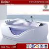 Wholesale luxury acrylic corner tub shower combo_LED massage bathtub, solid surface bathtub