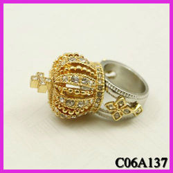 European and American jewelry crown crucifix diamond texture rings,retro rings