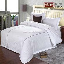 Cotton Hotel Living Bedding / White Bedding Sets/Wholesale Duvet Covet