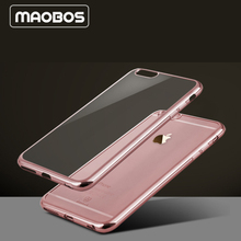 6 6S Plus Arc Electroplating TPU Slim Ultra Back Cover Mobile Phone Case for,iPhone 6 Case