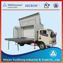 Dongfeng 4x2 20cbm Truck Foldable Mobile Stage