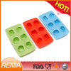 RENJIA hot sales silicone ice tray colorful silicone ice tray diamond ice ball maker
