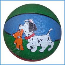 multi-color rubber basketball size 1