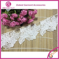 Embroidery Designs Cotton Crochet Lace Trim Hand Made Cotton Lace Embroidery Factory