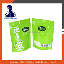 Stand up snack plastic packaging bag with ziplock