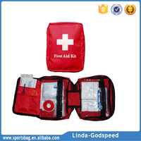 Wholesale Black Nylon Medical Waterproof Mini First aid Kit Bag with Accessories First Aid Box Emergency First Aid Kit