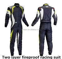 FIA the 2014 Latest 2 Layer Fireproof One Piece Car Racing Suits and motorcycle suit For Men