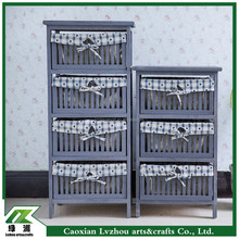 Grey Wooden Storage Cabinet for Home Furniture