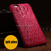 Wholesale Luxury genuine leather case for iphone 6 4.7 inch Crocodile pattern cowhide hard cover for iphone6