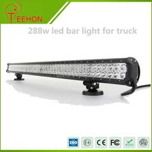 High power 288w double row auto led car light bar with CE,Rohs,IP68