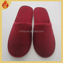 2015 fashion red indoor hotel guest room slippers