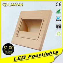 in stock Modern 3W LED Square Wall corner Lamp/ Hall Porch Walkway Living Room Light/ bedroom light Fixture (Black Shell)