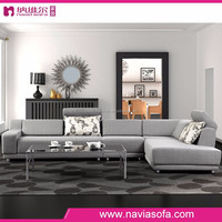 2015 New Simplicity Flannel high density Sponge modern fabric small corner sofa for living room