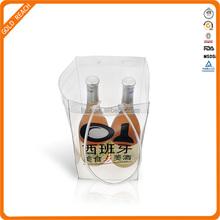Personalized Plastic 2 Bottles Wine Carrier Bag