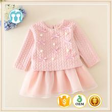 Directo de fábrica al algodón + poliéster infantil de invierno de vestir