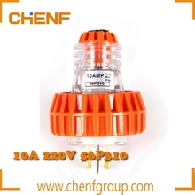CE Approval IP66 Waterproof 250VAC Single Phase Industrial Electric Plug -3 Pin Flat (56P310 10A, 56P315 15A)