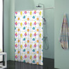 Wholesale shower curtains kids cartoon curtains little yellow croaker small colorful fish bathroom shower curtain sets