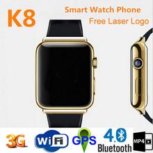 Newest design wifi bluetooth 3g sim card watch phone