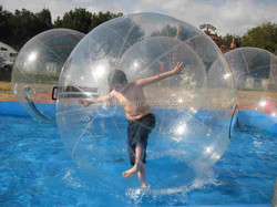 Popular superior quality giant inflatable clear ball/water absorbing balls