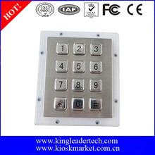 Customized metal keypad with usb interface