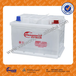 DIN 55056 12V50AH no-used car and truck battery for sale
