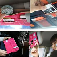 Top Quality colorful Car Sun Visor Storage Point Pocket Documents Organizer Bag Pouch Card Holder Credit Card Namecard pen