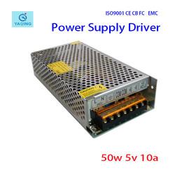YQ-50-5 100V-240V 5V 10A 50W switch Power Supply with CE,FCC,ROHS .led driver