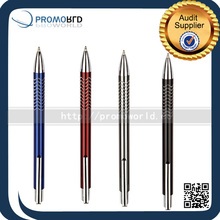 Small Business Ideas Click metal ball pen with wave curved rings