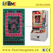 indoor table top mario slot game machine / fruit cocktail gambling game