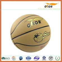 Size 6 PVC leather laminated indoor outdoor training basketballs