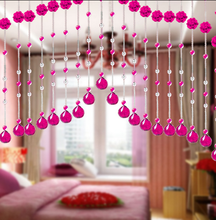 2015 New Decorative crystal bead curtain for decoration,crystal sarees with bead work