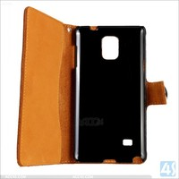 Wallet leather case for note 4,flip case for galaxy note 4,for Samsung galaxy note 4 genuine leather case with card slot