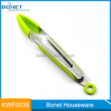 FDA & LFGB Approved 9 inch length stainless steel food tong for kitchen