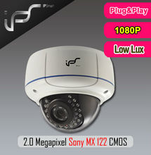 IPS HD 1080P Low Lux 20m IR view distance 1/2.5-inch Sony CMOS 2.8-12mm varifocal lens POE IP Dome cameras IPS-HS1824VL