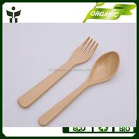 kids cutlery set in bamboo fiber material