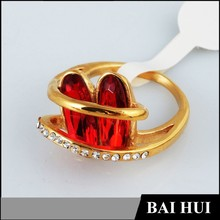 2015 Designs Fashion Ruby Couple Ring/Gold Couple Eternity Ring /Wholesale High Quality Couple Ring