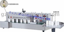 Automatic induction sealer with warning device